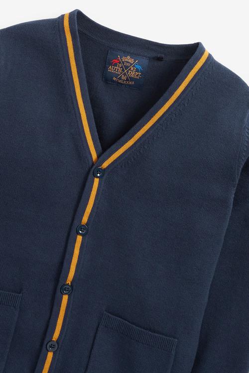Next Button Through Tipped Cardigan (3-16yrs)