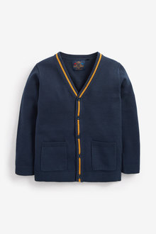 Next Button Through Tipped Cardigan (3-16yrs) - 275986