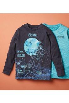 Next 2 Pack Football Graphic T-Shirts (3-16yrs) - 276027