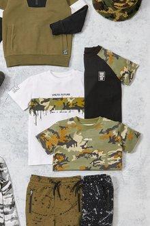 Next 3 Pack Camo Colourblock T-Shirts (3-16yrs) - 276039