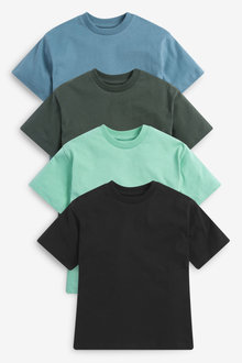 Next 4 Pack Relaxed Drop Shoulder Skate Fit Short Sleeve T-Shirts (3- - 276042