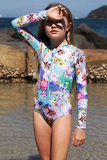 Bluesalt Beachwear Long Sleeve Surf Tank Swimsuit - 276060
