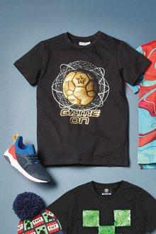 Next Short Sleeve Gold Football T-Shirt (3-16yrs) - 276061