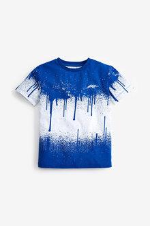 Next Splat Print Short Sleeve Jersey T-Shirt (3-16yrs) - 276063