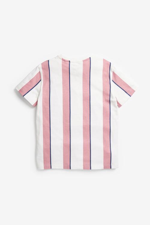 Next Vertical Stripe Short Sleeve T-Shirt (3-16yrs)
