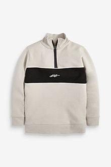 Next Lightweight Half Zip Colour Block Sweater (3-16yrs) - 276075