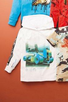 Next Racing Car Hooded T-Shirt (3-16yrs) - 276077