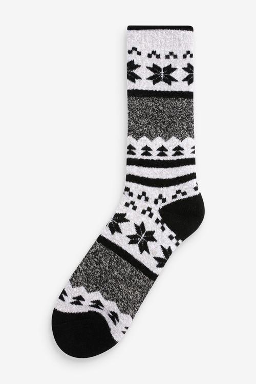 Next Fairisle Pattern Heat Holder Socks (Older)