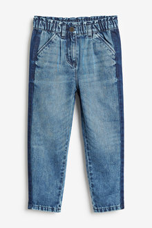 Next Side Panel Gathered Waist Jeans (3-16yrs) - 276452