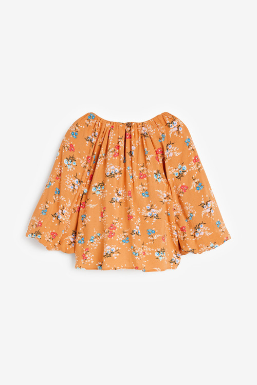 Next Puff Sleeve Tie Front Blouse (3-16yrs)