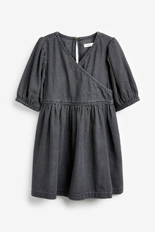 Next Denim Wrap Dress (3-16yrs) - 276473