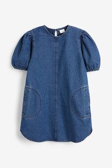 Next Puffed Sleeve Dress (3-16yrs) - 276474