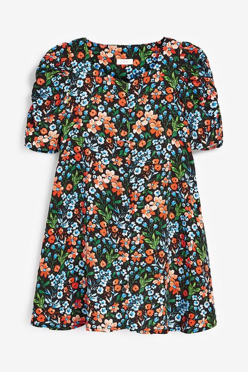 Next Shirred Sleeve Dress (3-16yrs)