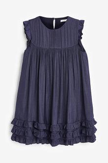 Next Ruffle Satin Dress (3-16yrs) - 276480