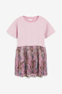Next Lilac Floral Dress (3-12yrs) - 276543