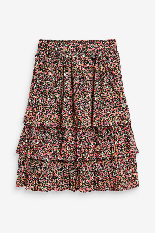 Next Tiered Pleated Midi Skirt (3-16yrs)