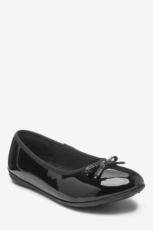 Next Leather Ballet Shoes (Older)-Wide Fit (G)