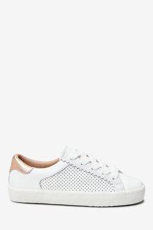 Next Leather Perforated Trainers (Older) - 276743