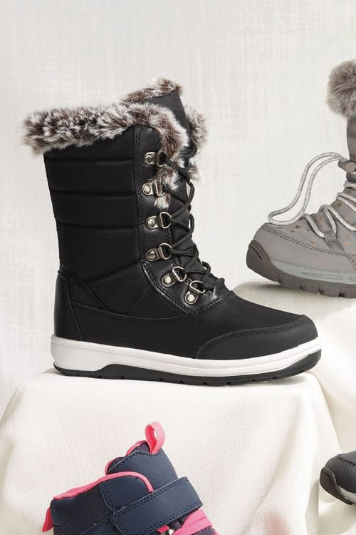 Next Waterproof Faux Fur Lined Snow Boots (Older)