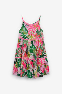 Next Palm Print Tiered Dress - 276748