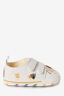 Next Muted Character Two Strap Pram Shoes (0-24mths) - 276794
