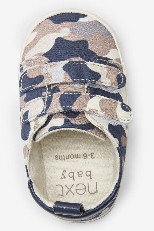 Next Camo Two Strap Pram Shoes (0-24mths)