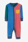 Next 3 Pack Colourblock Footless Sleepsuits (0mths-3yrs)