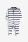 Next 3 Pack Star Stripe Sleepsuits (0mths-2yrs)