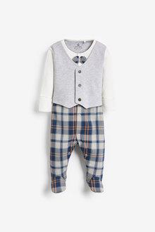 Next Check Waistcoat Sleepsuit (0mths-2yrs) - 276937