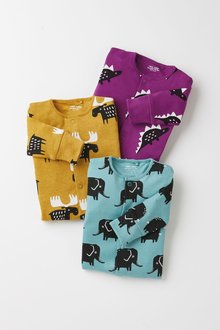 Next 3 Pack Character Sleepsuits (0mths-2yrs) - 276938