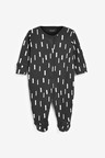 Next 3 Pack Multi Print Sleepsuits (0mths-2yrs)