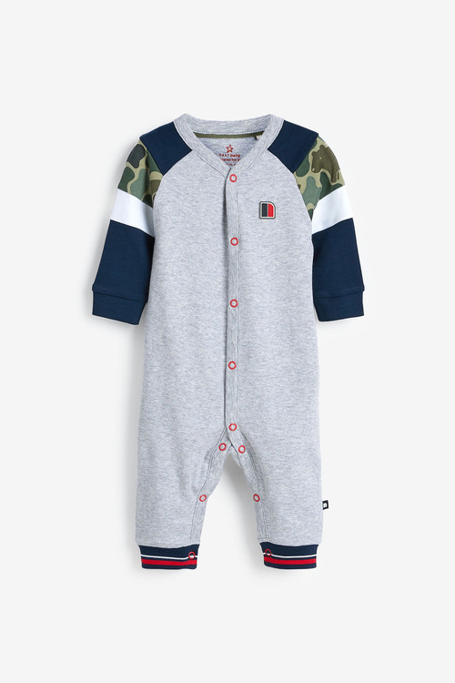 Next 2 Pack Sporty Colourblock Sleepsuits (0mths-2yrs)