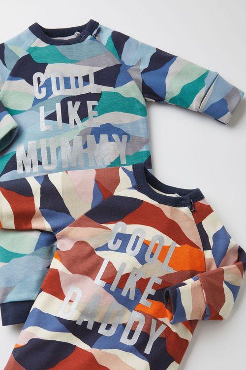 Next GOTS Organic Cool Like Daddy Camo Footless Zip Sleepsuit (0mths-