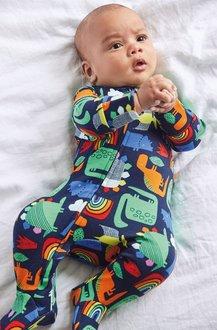 Next GOTS Organic Dinosaur Zip Sleepsuit (0mths-2yrs) - 276947