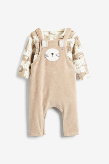 Next Velour Dungarees And Bodysuit Set (0mths-2yrs) - 276958