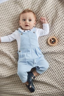 Next Smart Cord Dungarees And Jersey Bodysuit Set (0mths-3yrs) - 276959