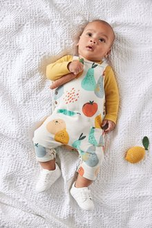 Next GOTS Organic Fruit Dungarees And Bodysuit Set (0mths-3yrs) - 276961