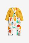 Next GOTS Organic Fruit Dungarees And Bodysuit Set (0mths-3yrs)