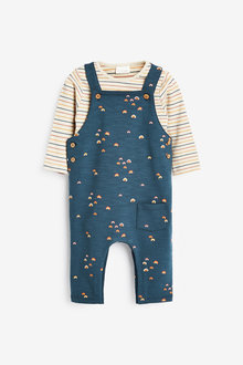 Next Rainbow Dungarees And Bodysuit (0mths-3yrs) - 276962