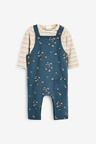 Next Rainbow Dungarees And Bodysuit (0mths-3yrs)