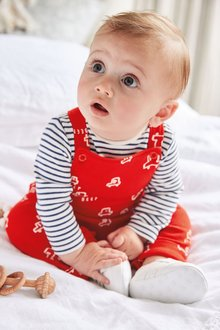 Next GOTS Organic Car Dungarees And Bodysuit Set (0mths-3yrs) - 276963
