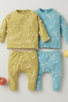 Next 4 Pack GOTS Organic T-Shirt and Legging Set (0mths-2yrs) - 276966