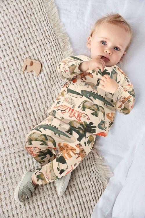 Next GOTS Organic Animal T-Shirt and Legging Set (0mths-3yrs)
