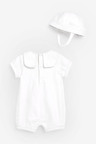 Next Woven Occasion Romper With Hat (0mths-2yrs)