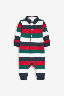 Next Stripe Polo Romper (0mths-3yrs) - 276977