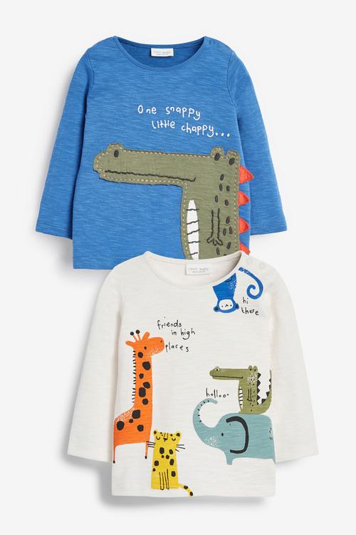 Next 2 Pack Crocodile T-Shirts (0mths-3yrs)