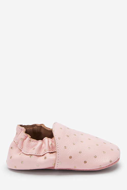 Next Premium Leather Slip-On Pram Shoes (0-18mths)