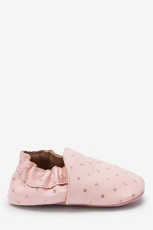 Next Premium Leather Slip-On Pram Shoes (0-18mths) - 277013