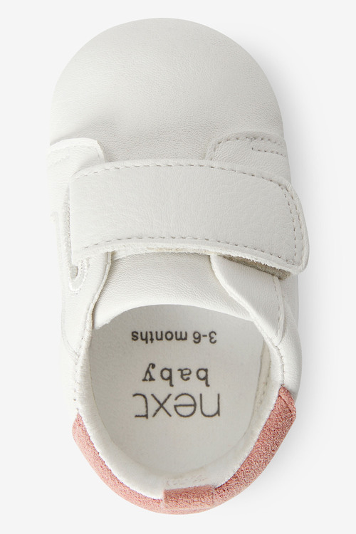 Next Leather Touch Fastening Pram Trainers (0-24mths)