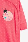 Next 3 Pack Ladybird Stripe Sleepsuit (0mths-2yrs)